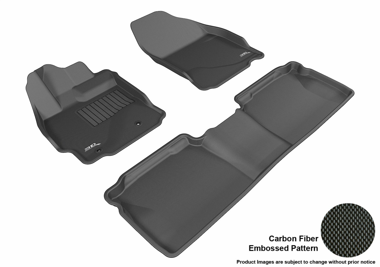 Kagu Rubber Black L1SC00401509 3D MAXpider Complete Set Custom Fit All-Weather Floor Mat for Select Scion TC Models