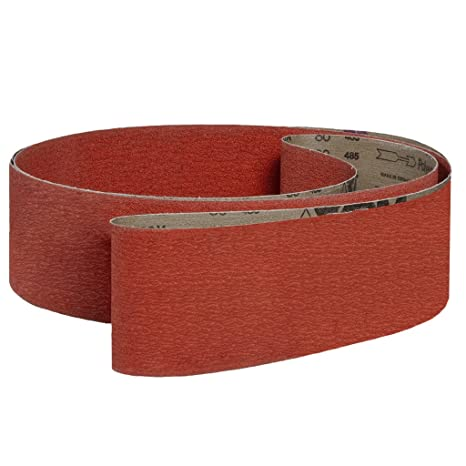 Ceramic VSM 300347 Abrasive Belt Coarse Grade 42 Length Pack of 10 Bright Red 1 Width Cloth Backing 36 Grit