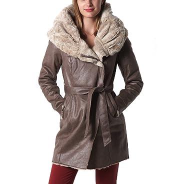 Taupe Vêtements Fourré Manteau 44 Promod Femme Et qxtB0Pfwf