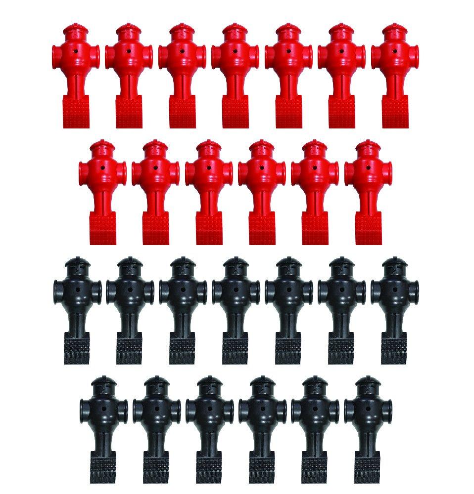 26 Black & Red Shelti Foosball Men by Shelti