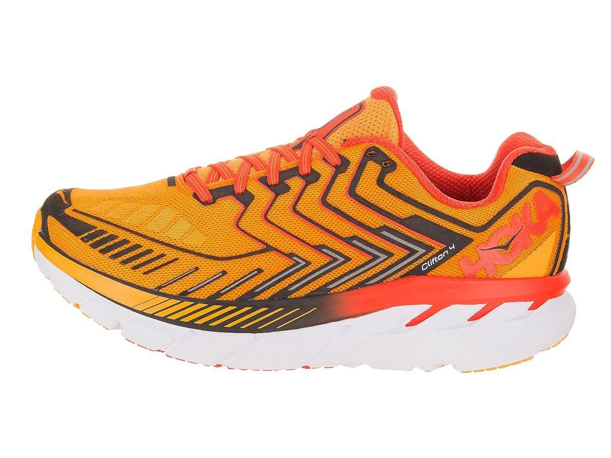 Amazon.com | HOKA ONE ONE Mens Clifton 4 Saffron/Red Orange Running Shoe 8.5 Men US | Road Running