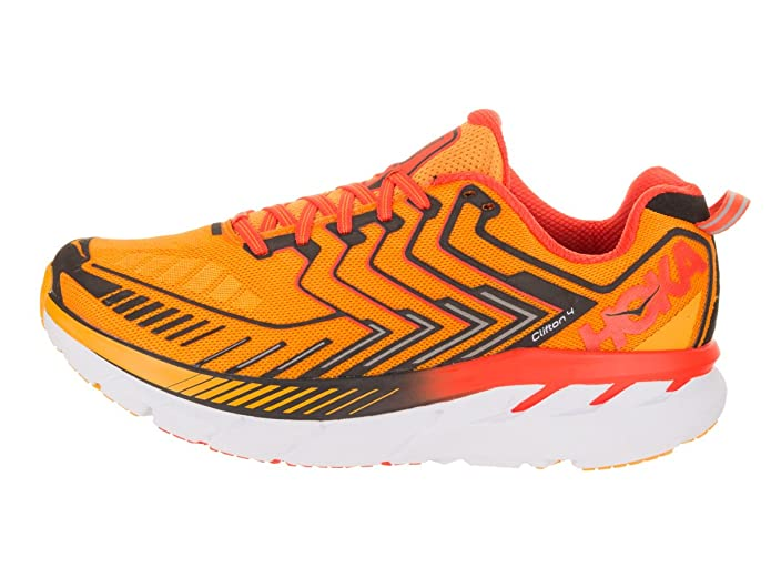 Amazon.com | HOKA ONE ONE Mens Clifton 4 Saffron/Red Orange Running Shoe 8.5 Men US | Road Running