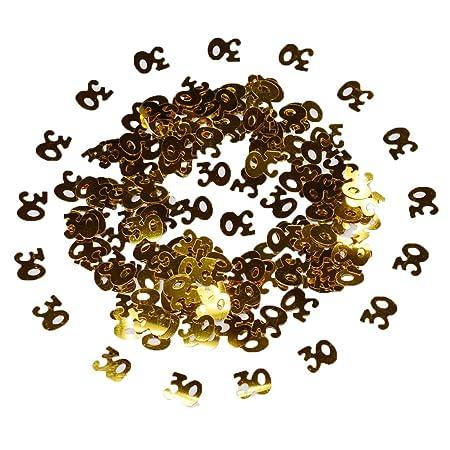 2000 piezas 50g Oro Metálica Número de dígitos 30 Letras Feliz cumpleaños Confeti Decoración para cumpleaños, Fiesta, Aniversario de bodas, ...