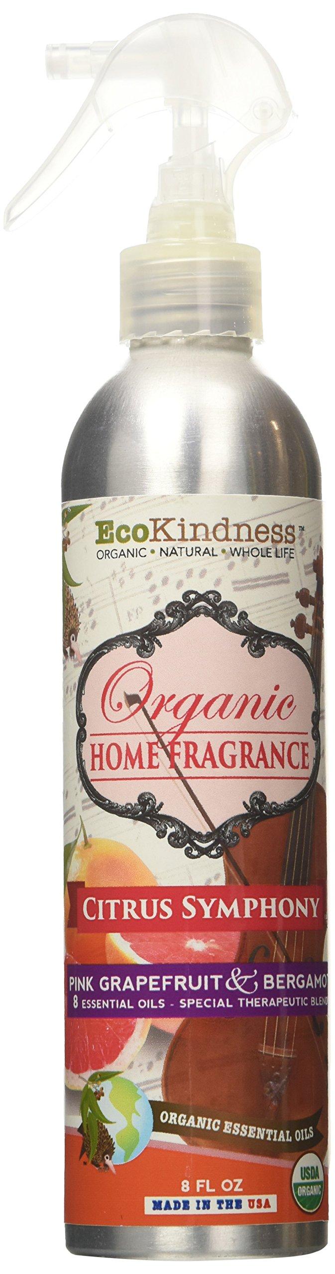 EcoKindness Organic Citrus Symphony Melody Fruit Laden Rose Home Fragrance, 8 Fl Oz (Pack of 12)