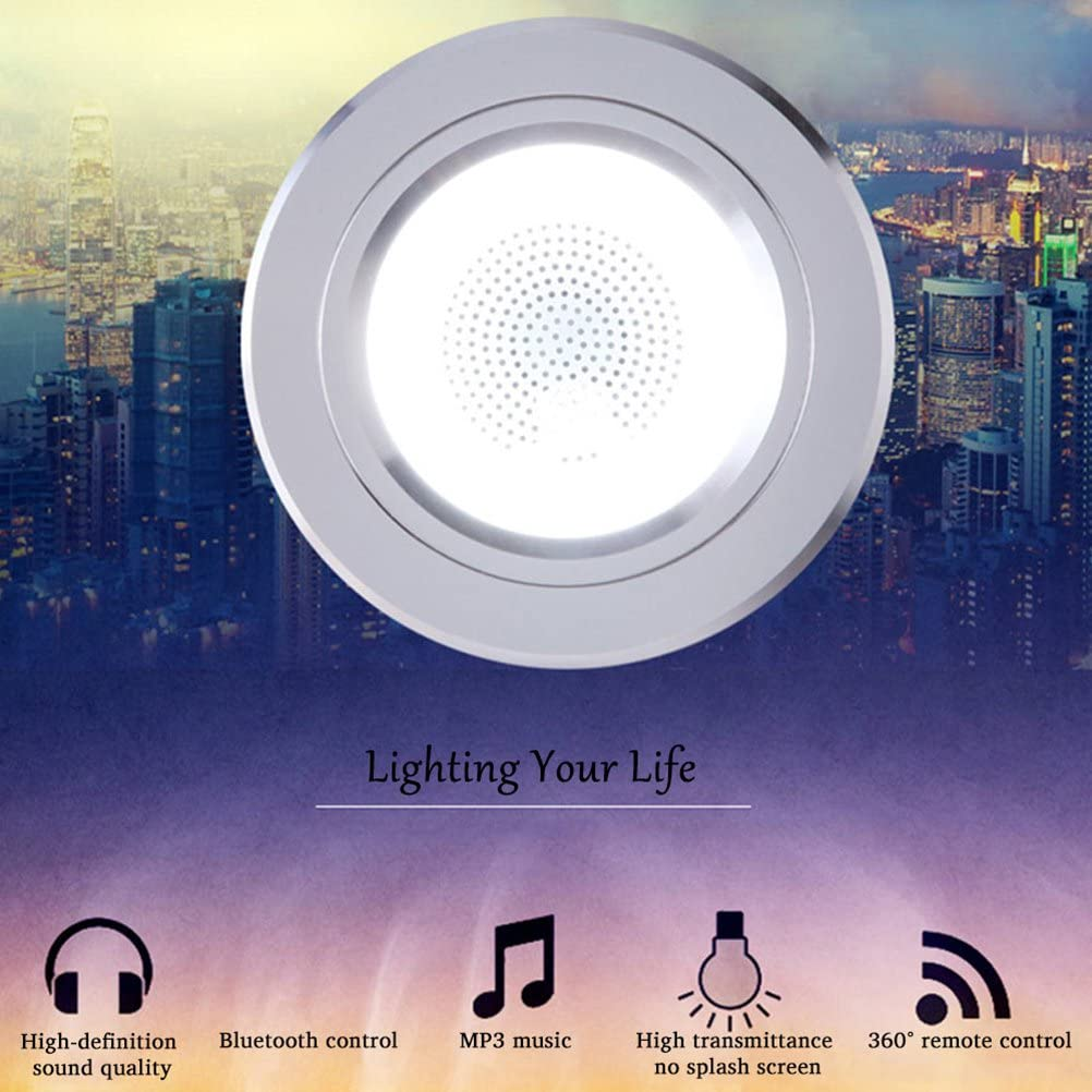 LEDMOMO 2pcs elegante m/úsica Bluetooth LED techo Downlight Color cambiante luz decorativa techo