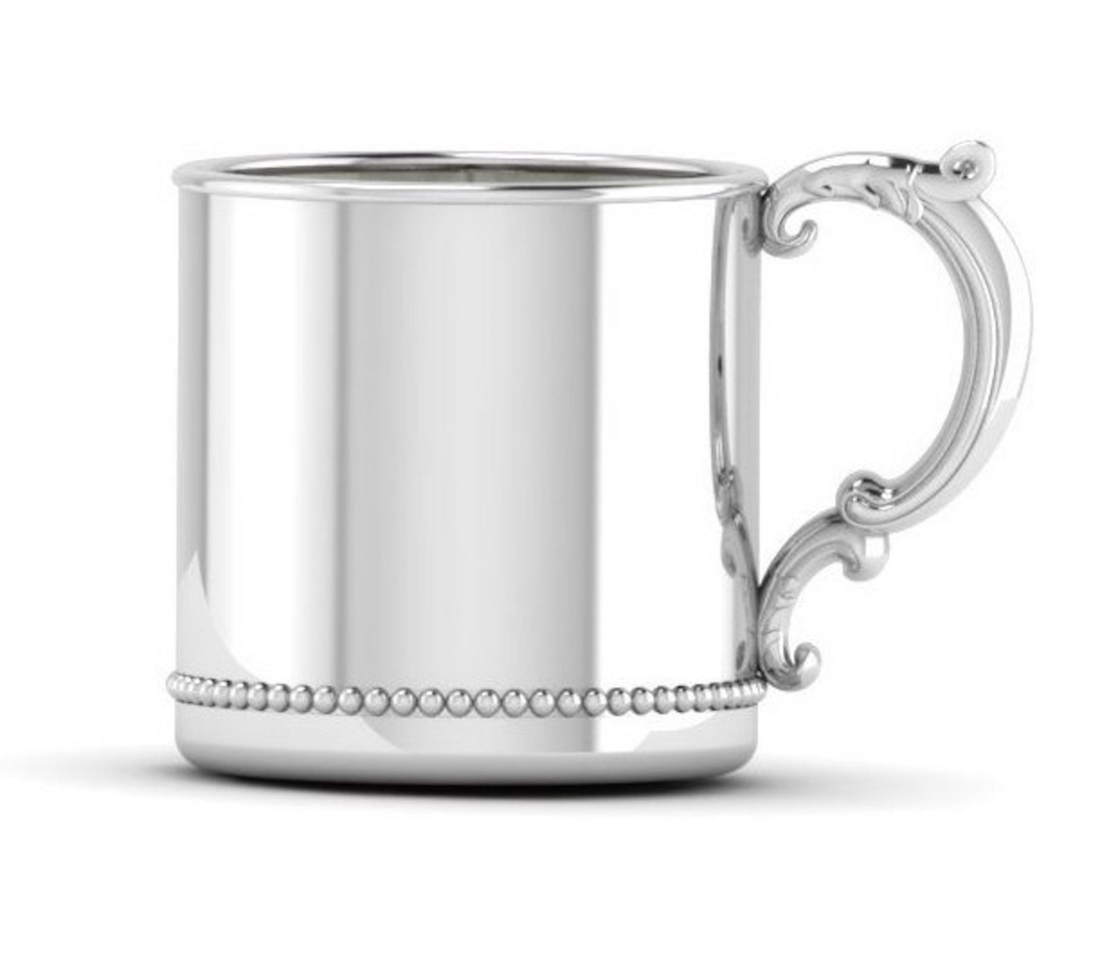 Krysaliis Sterling Silver Beaded 5 Ounce Victorian Handle Cup