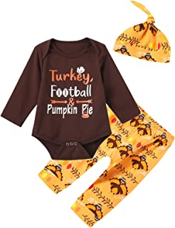 Pumpkin for Thanksgiving Unisex Solid Baby 100/% Organic Cotton Romper Pajamas 0-24 Months