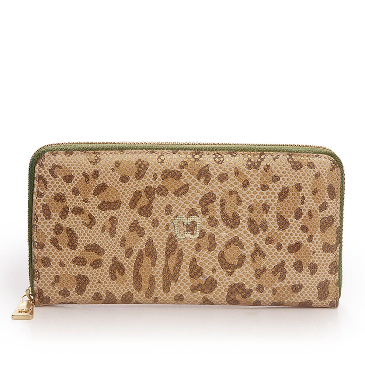 Eric Javits Luxury Fashion Designer Women's Handbag - Zip Wallet - Leopard