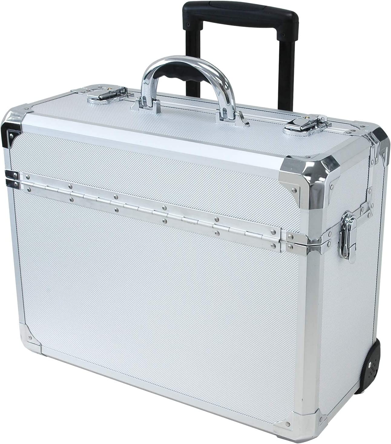 Silver 18-1//4 X 8 X 13-3//4 In Case International T.z Apl-410t Sd Wheeled Pilot Case T.Z