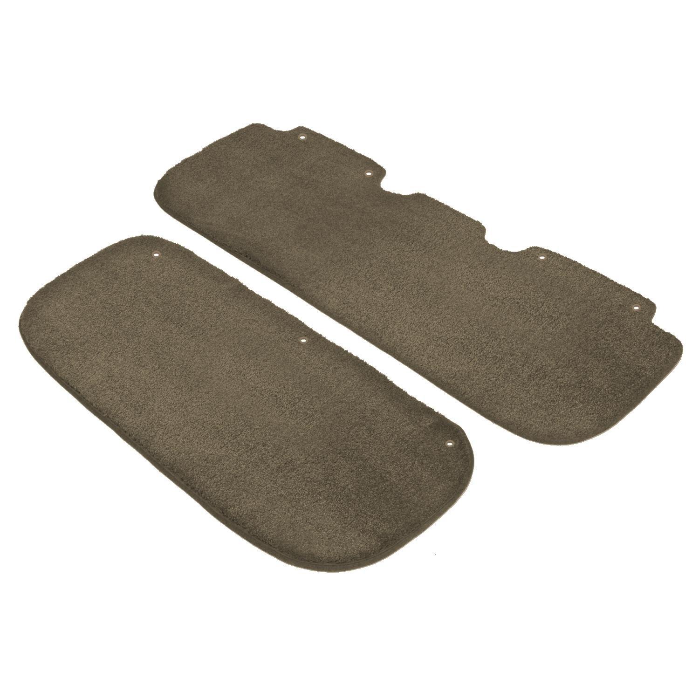 Black Coverking Custom Fit Rear Floor Mats for Select Dodge Grand Caravan Models Nylon Carpet