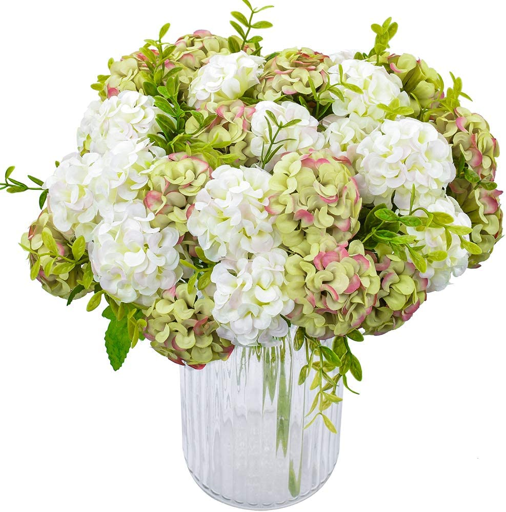 Details about  /1 Pc Silk hydrangeas artificial flowers wedding bride hand blooming peony fake f