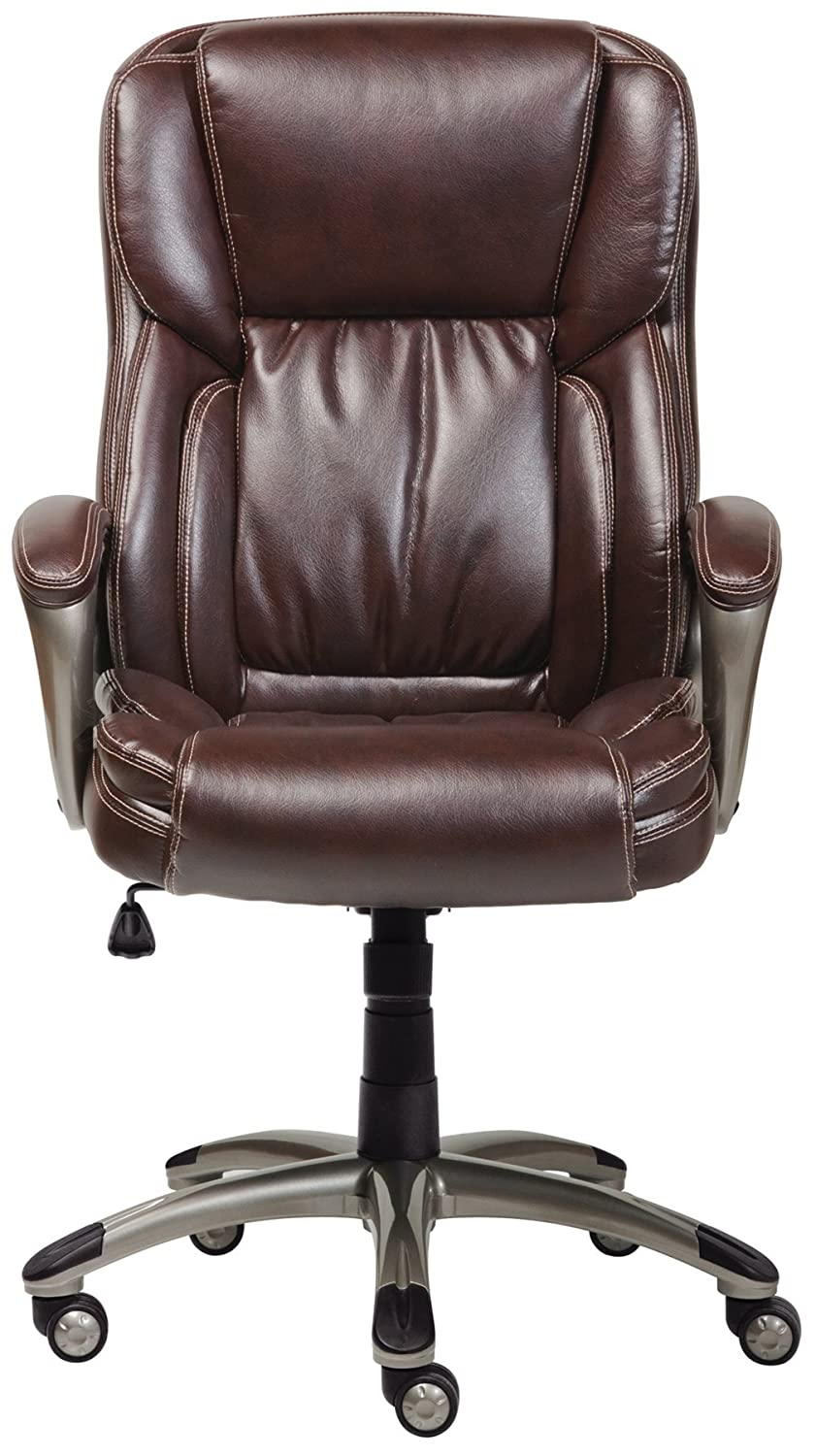 Lane office chairs - Amazon Com Serta Works Executive Office Chair Bonded Leather Brown Kitchen Dining