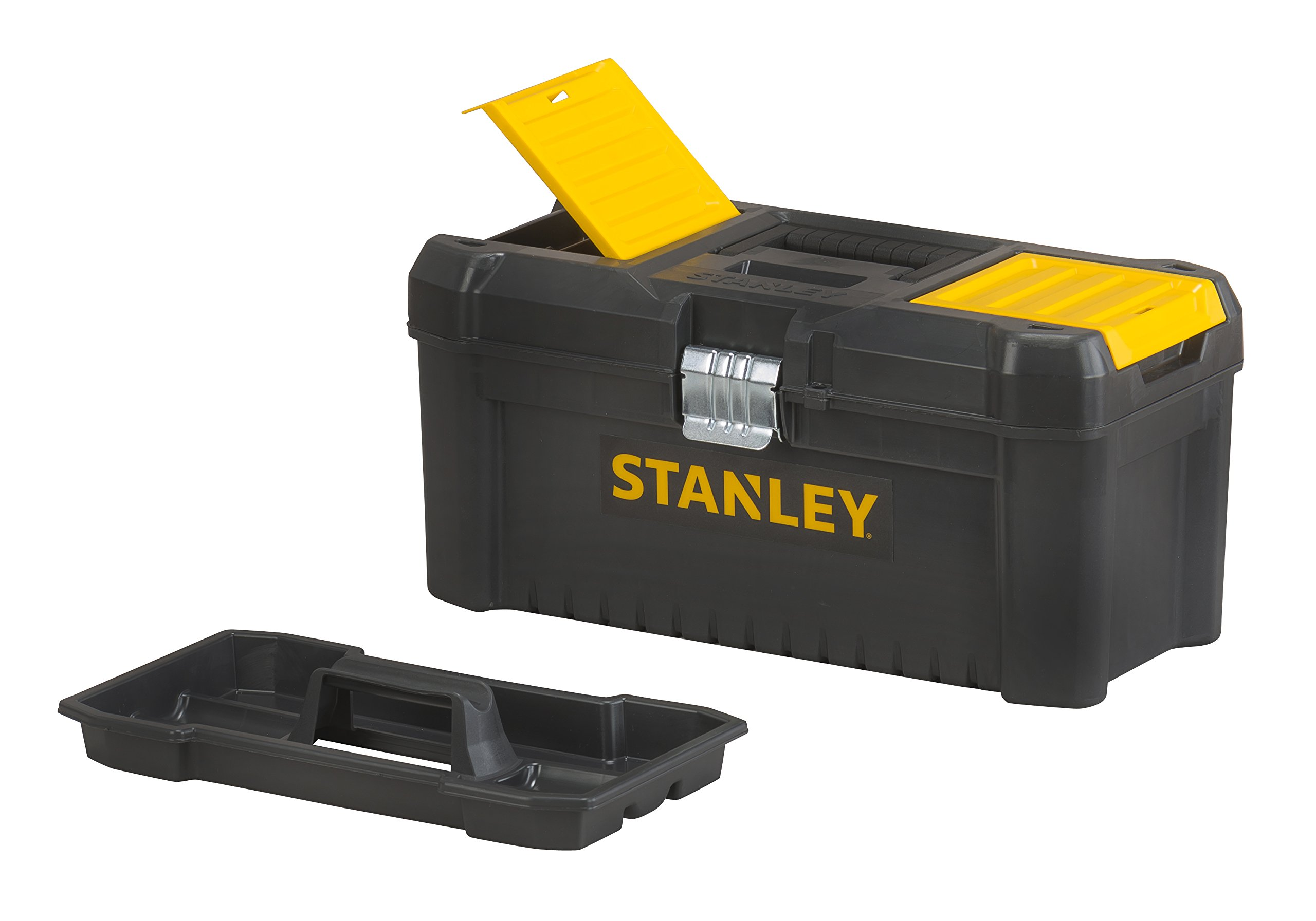 Stanley Tools Basic Toolbox with Organiser Top & Geometric Lock Latches | 16in by Stanley Tools (Image #3)