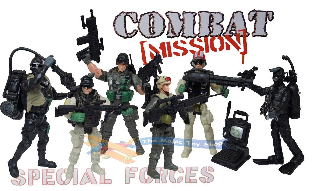 Kids Toys Action Figure: Childrens Kids Army Military Toy Soldiers Action Figures
