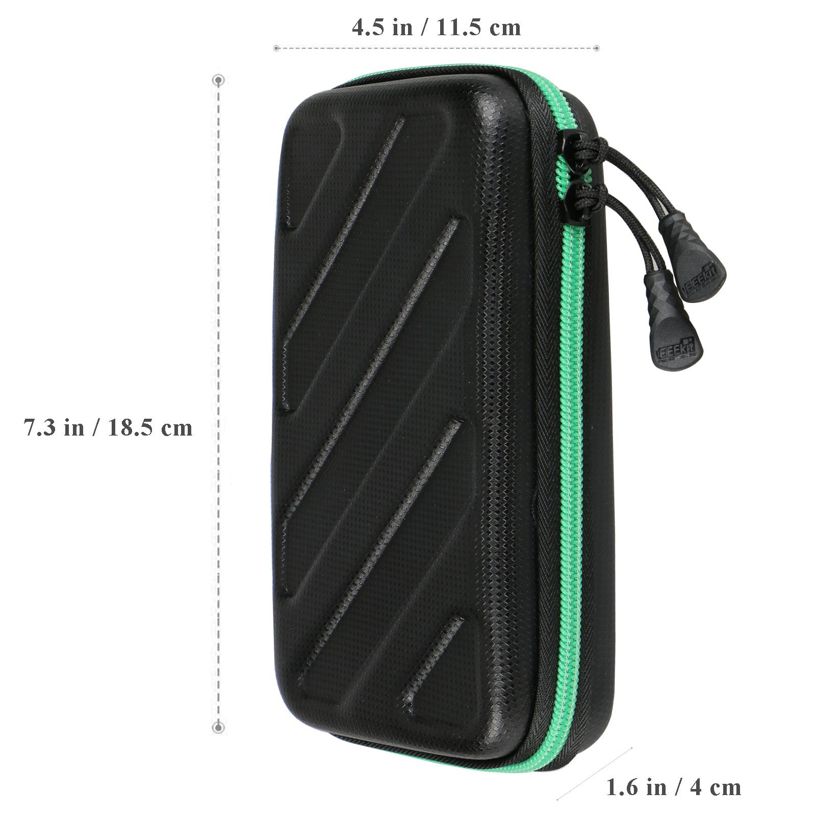 EEEKit Portable Travel Cable Organizer Electronics Accessories Cases Digital Bag for Hard Drives, Charging Cords, USB Charger Adapter, USB Flash Drives, Data Cable (7.3 in x 4.5 in x 1.6 in) by EEEKit (Image #6)