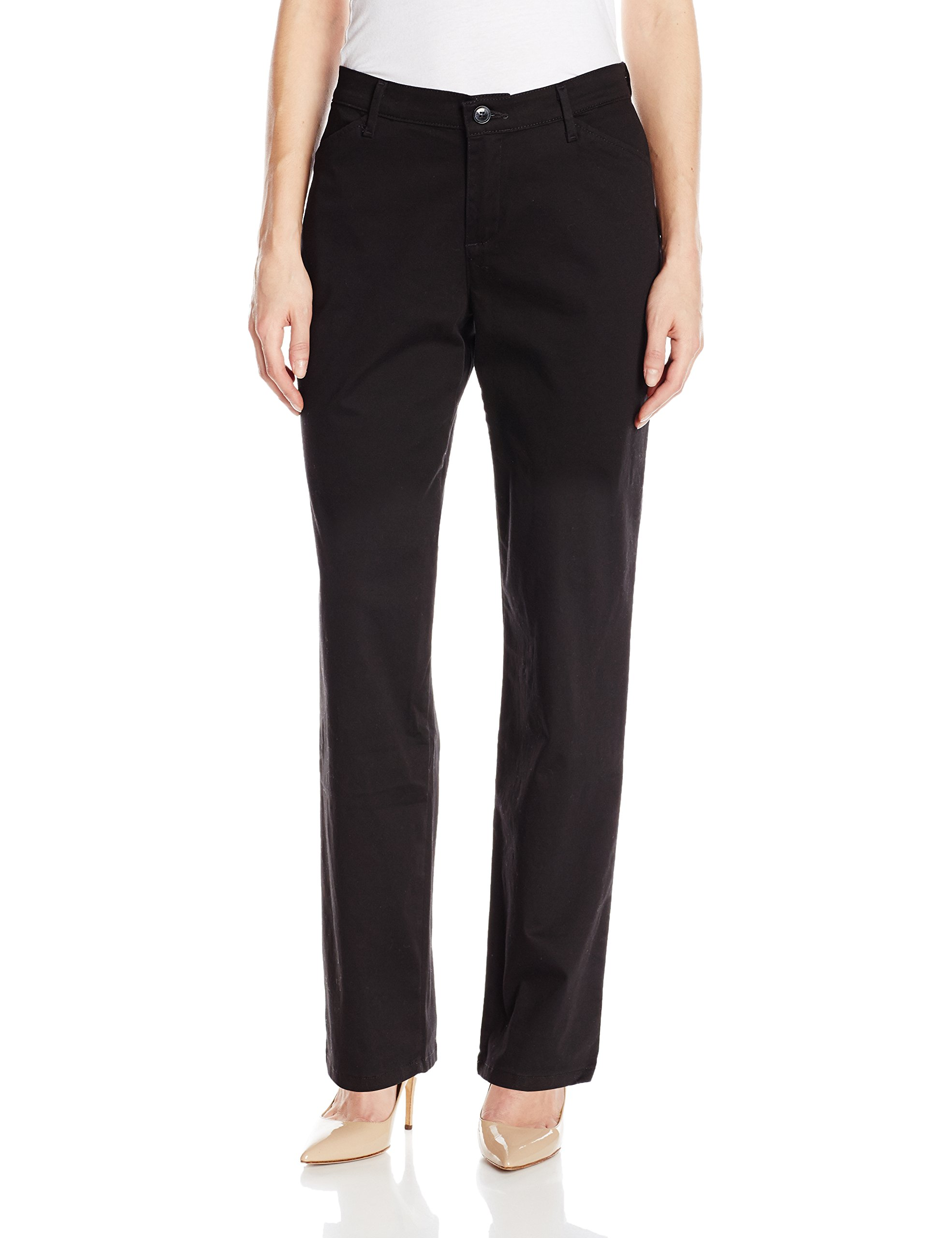 LEE Women's Relaxed Fit All Day Straight Leg Pant, Black, 14 Medium