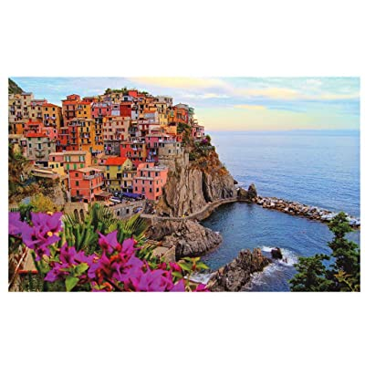 500 Piece Large Jigsaw Puzzle for Adults Kids - 500 pc Dream Landscape Jigsaw Puzzle Game Interesting Toys - Hand Made Puzzles Personalized Gift (Fishing Village): Garden & Outdoor