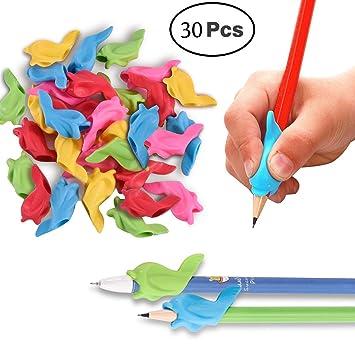 30 pcs lápiz Grips, wolfride silicona ergonómico y pinza ...