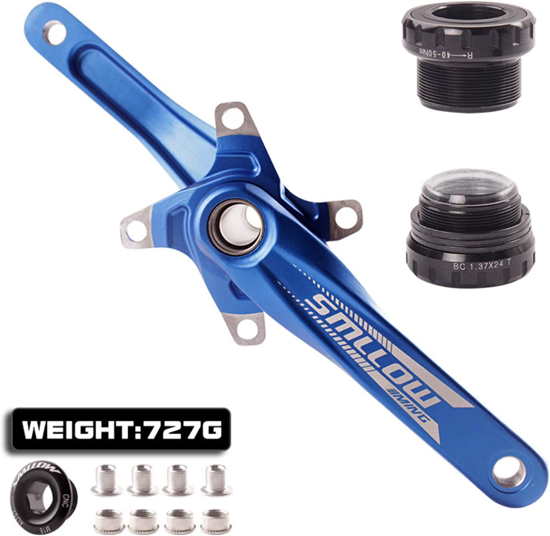 VUNDO MTB Bike Crankset 1x with Bottom Bracket 170mm 104BCD Biycle Crank Arm Single Speed Compatible for Shimano Giant Gold