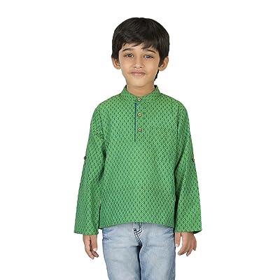 Fabindia Boys Cotton Short Kurta/12-14Yr