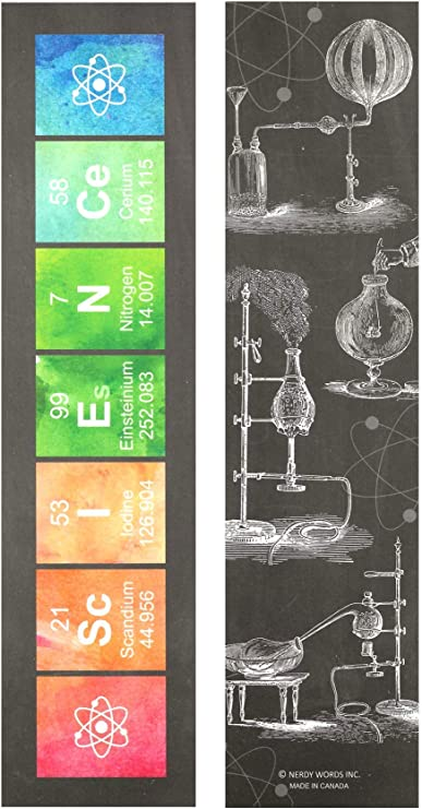 Chemistry Science Periodic Table Paper Bookmarks