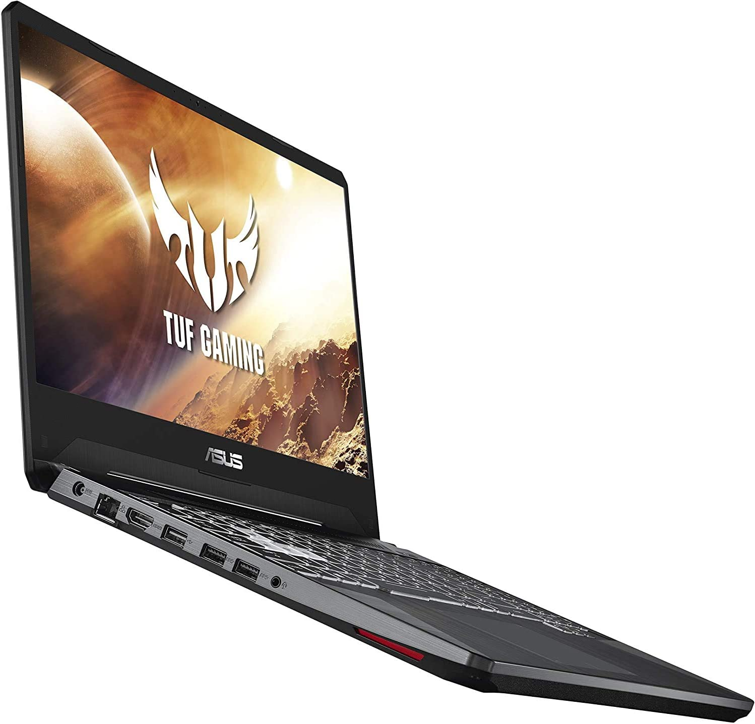 Asus TUF 15.6-inch FHD Gaming Laptop, AMD Quad Core Ryzen 5 3550H Processor, Nvidia Geforce GTX 1650 4GB Graphics, 8GB DDR4 RAM, 256GB Solid State Drive, RGB Backlit Keyboard, Windows 10 Home, Black