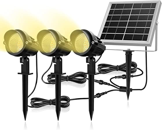 48 LED Lampada Solare Impermeabile Regolabile a Tre modalit/à con Controller Ichiias Solar Light White Without Rod