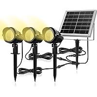 Luces Solares para Exterior, MEIKEE 3 en 1 Luces Led de Jardín Solar 6V/3W, Impermeable IP66, Blancas Cálidas 3000k…