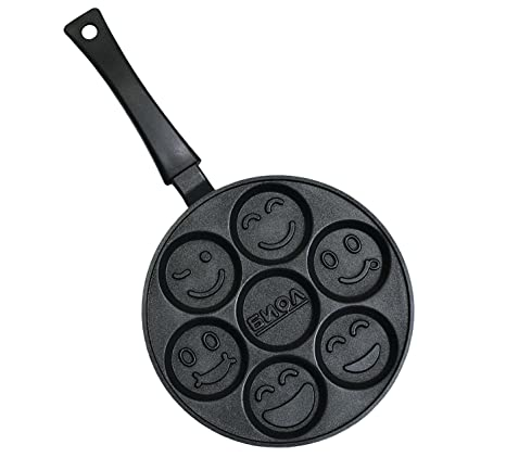 Smiley Faces – Sartén para tortitas de crepes antiadherente 24 cm Biol