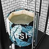 UNIKON Portable Foldable Bathtub Soaking Bath Tub Freestanding Bathtub Plastic Bathing Tub for Shower Stall, Thickening…