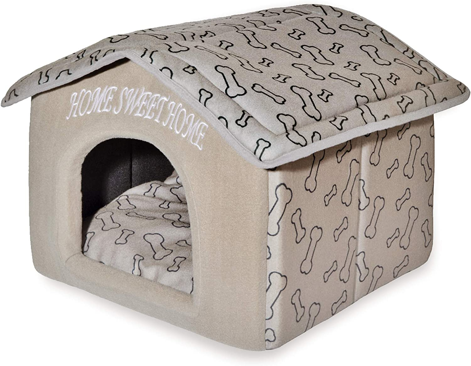 Best Pet Supplies Portable Indoor Pet House Perfect For Cats Small Dogs Easy To Assemble Brown Pet Supplies