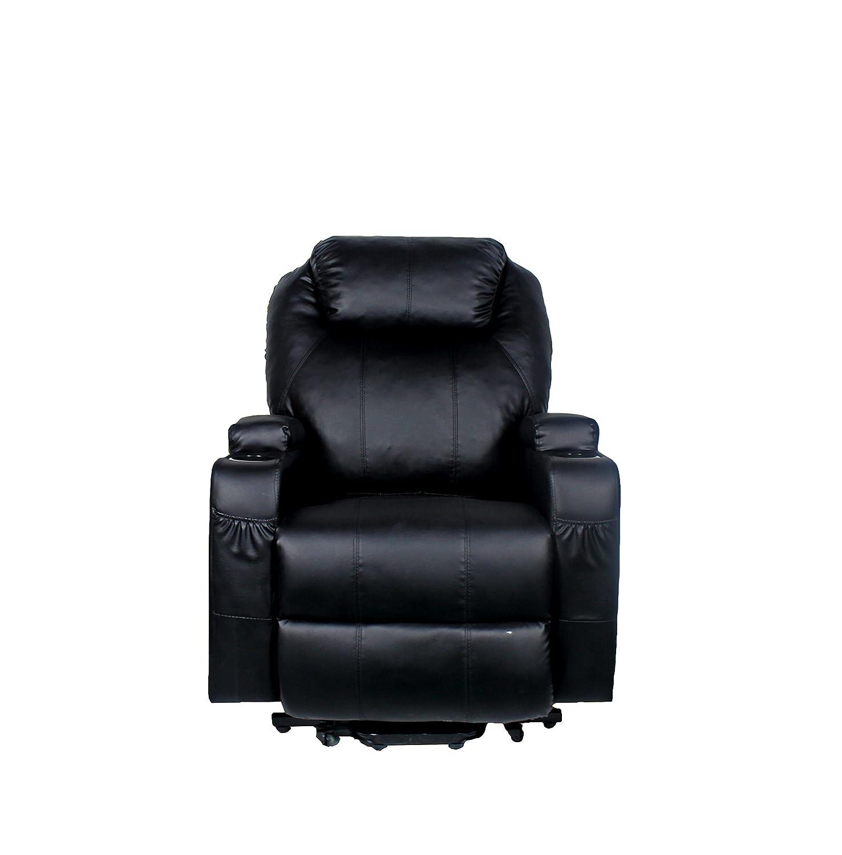 Stupendous Amazon Com Beverly Fine Furniture Enzo Faux Leather Power Machost Co Dining Chair Design Ideas Machostcouk