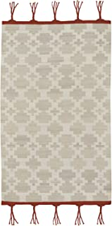 product image for Capel Rugs Genevieve Gorder Hyland 7' x 9' Rectangle Flat Woven Rug - Fog