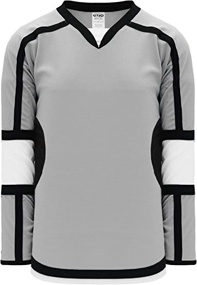 black and white hockey jersey