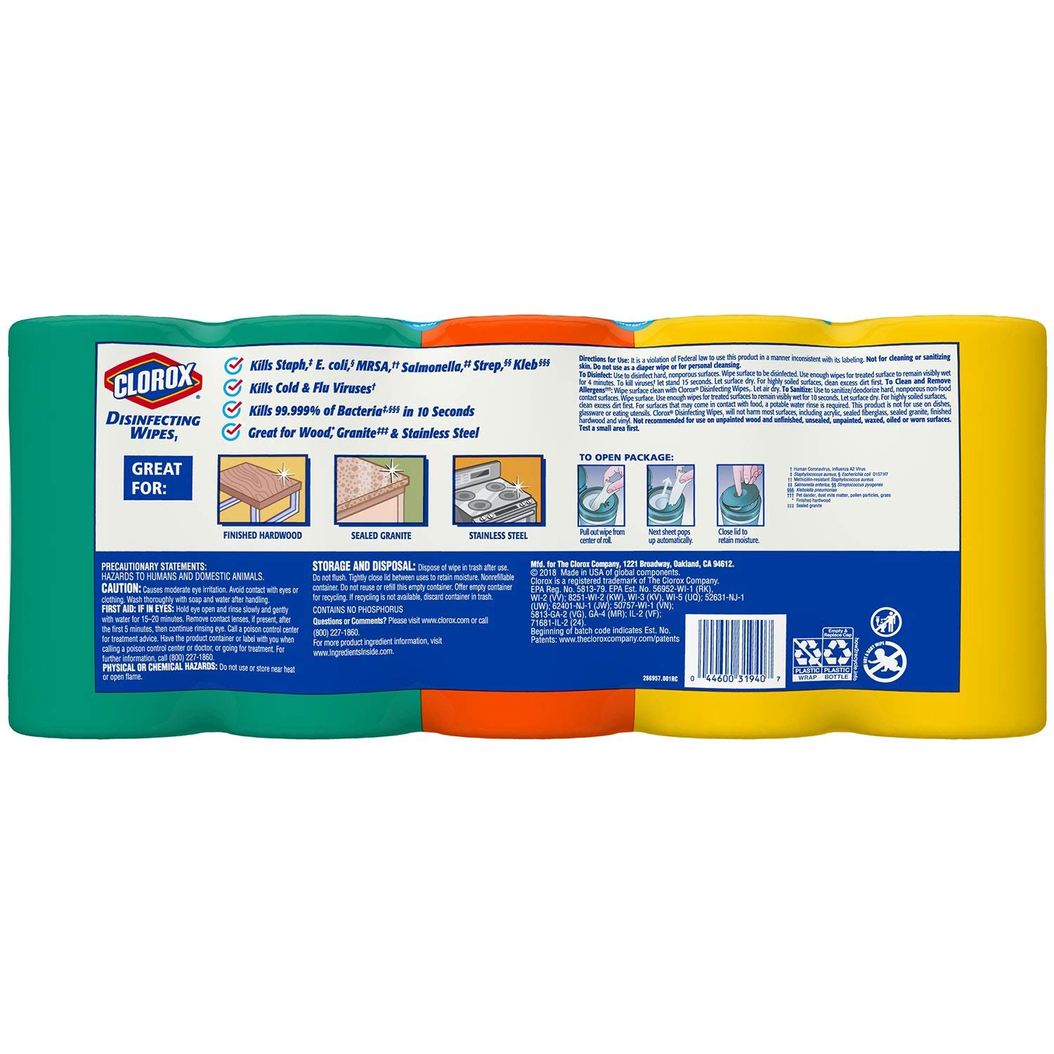 Clorox Disinfecting Wipes 5-pk., 390 Total Wipes Variety Pack