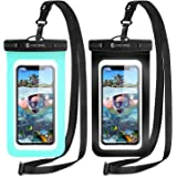 Syncwire Waterproof Phone Pouch [2-Pack] - IPX8 Waterproof Phone Case Dry Bag with Lanyard Compatible with iPhone 13/12/11 Pr