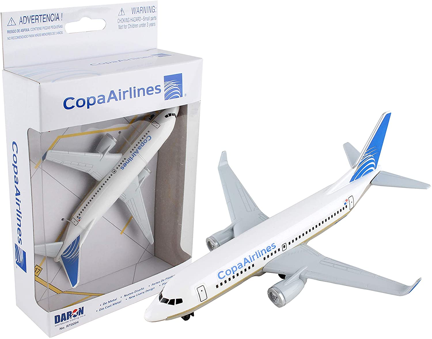 DARON COPA AIRLINES 0204 and Frontier Airline 7594-1 Airplane Models Set