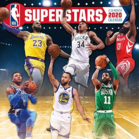 2020 Nba Superstars Wall Calendar By Trends International