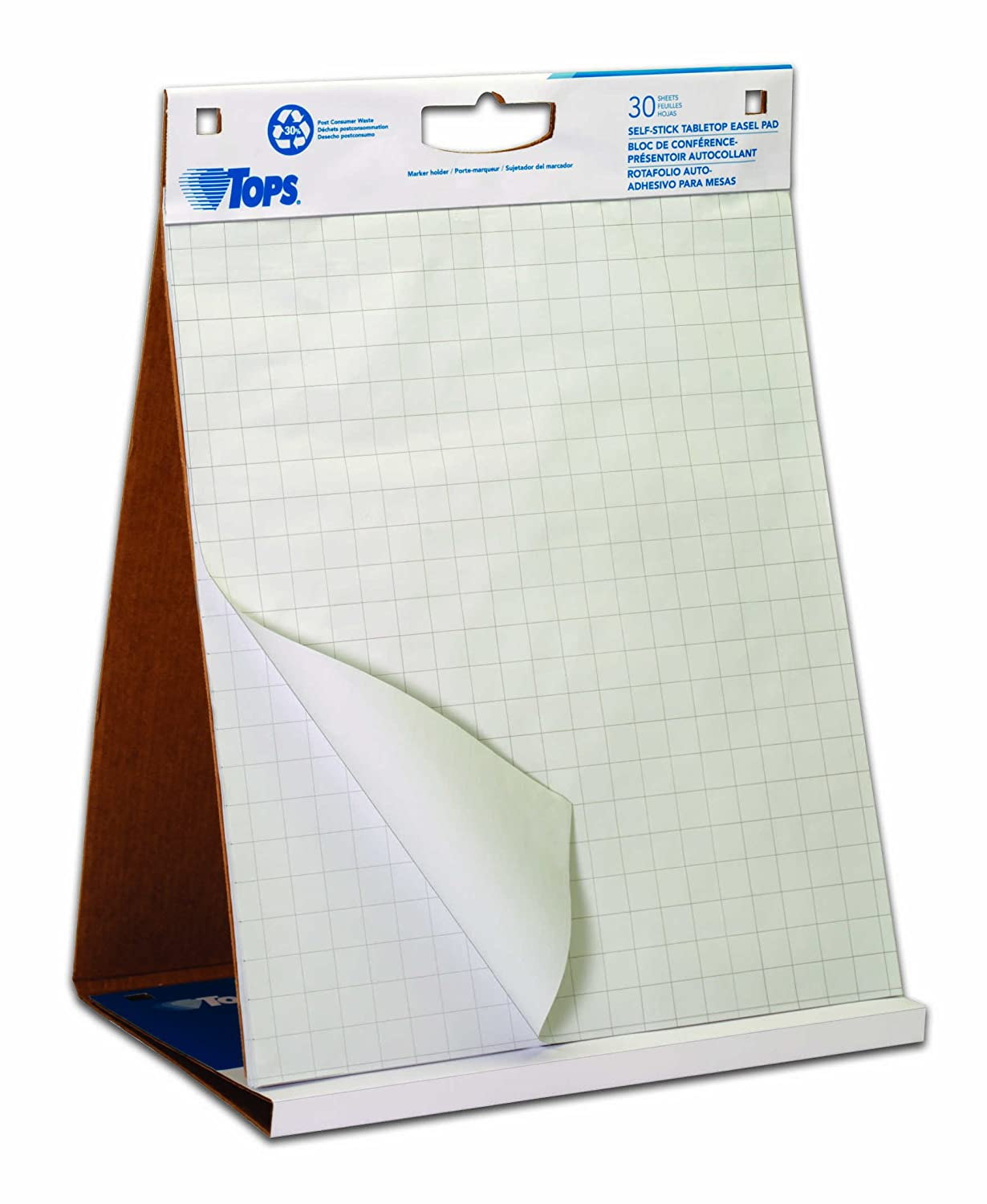 Amazon.com : TOPS Easel Pad with Tabletop Easel, 30 Self Stick Sheets, White, 22 x 23 Inches (79250) : Office Products
