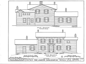 Historic Pictoric Blueprint Diagram HABS WIS,66-BENW.V,1- (Sheet 3 of 6) - Maxon Farmhouse, West Bend, Washington County, WI 14in x 11in
