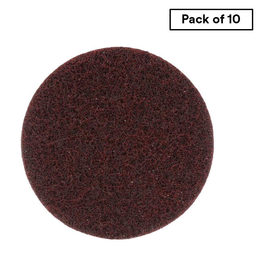 Scotch-Brite Surface Conditioning Disc for Sanding - Metal Surface Prep - Hook and Loop - Aluminum Oxide - Medium Grit - 5'' diam. - Pack of 10 by Cubitron