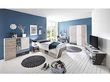 Jugendzimmer komplett für jungs  Jugendzimmer komplett Set Kinderzimmer Schlafzimmer Möbel