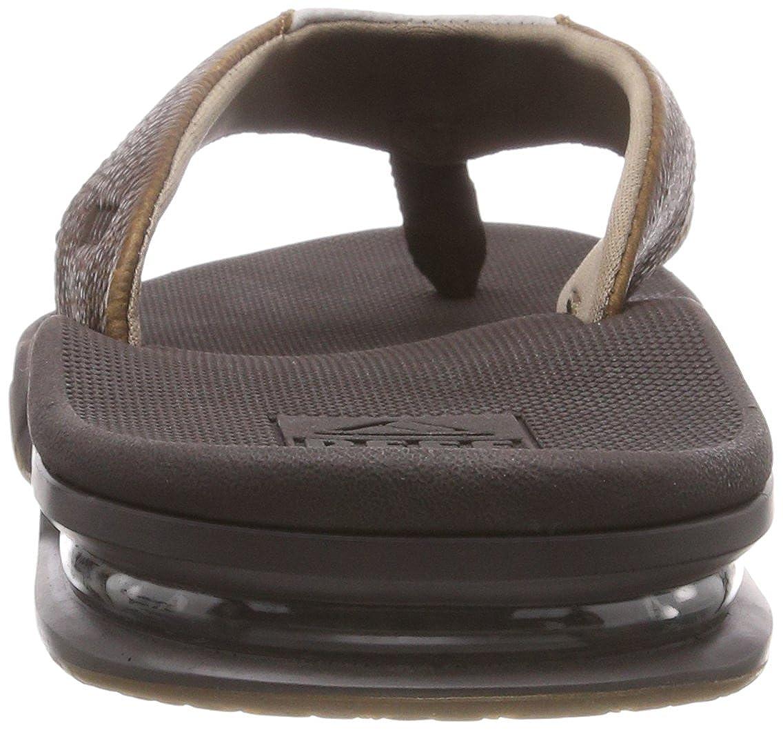 Reef Men's Leather Fanning Sandal 4 M US|Brown/Brown US|Brown/Brown M B00ZUYD9UE 37bf02