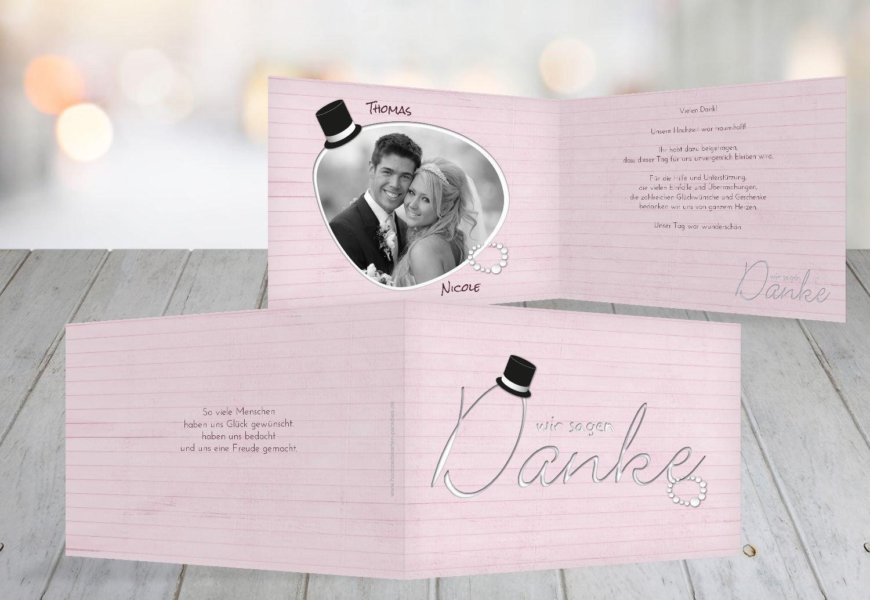 Kartenparadies Danksagung für Hochzeitsgeschenke Hochzeit Dankeskarte Kette Zylinder, hochwertige Danksagungskarte Hochzeitsglückwünsche inklusive Umschläge   10 Karten - (Format  148x105 mm) Farbe  Rosa B01NAVJXW1 | Hohe Sicherheit
