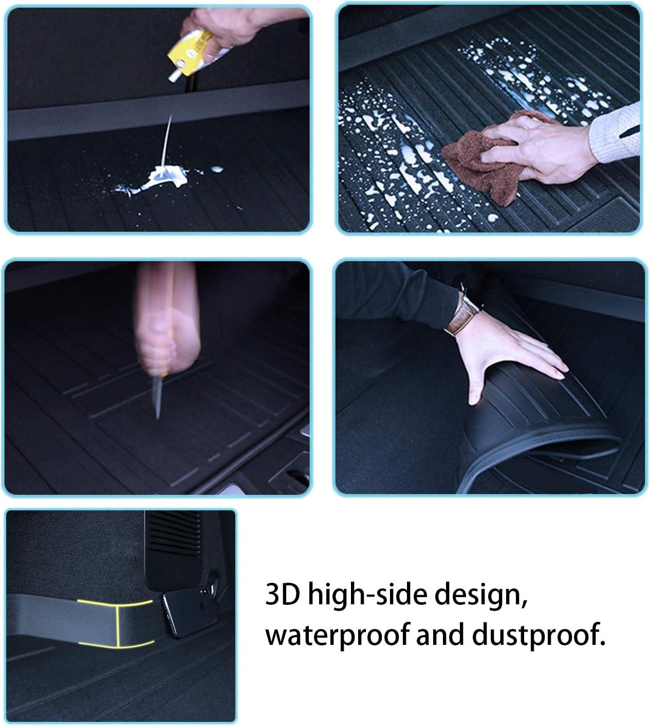 YEE PIN Tapis de Coffre en Caoutchouc Compatible avec Toyota RAV4 XA50 2020 Tapis de Protection lat/érale en Caoutchouc pour Le Transport de Bagages