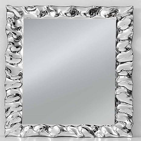 Specchi Moderni Con Cornice.Specchio Con Cornice Rettangolare Colore Argento Stile Moderno Con Struttura In Acciaio Mis 70 X 100