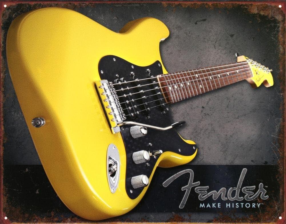 Amarillo de la defensa guitarra hacer historia apenados Retro de ...