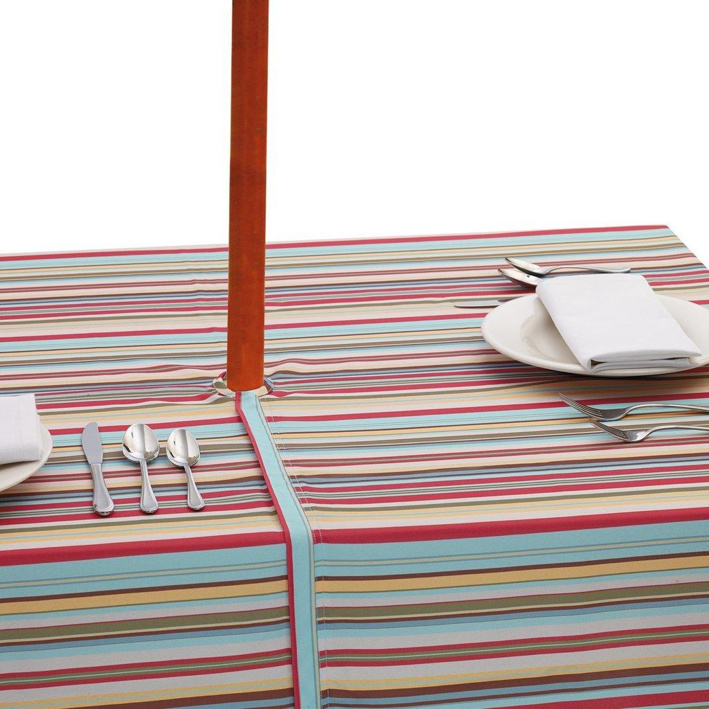 Heart of America Warm Summer Umbrella Tablecloth 60 x 84'' with umbrella hole/zipper