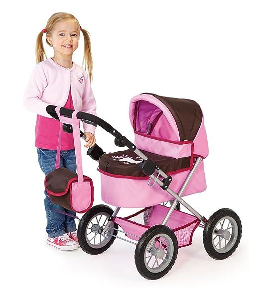 Amazon.es: Bayer Design - Trendy, cochecito de muñeca, color moreno y rosa (13063): Juguetes y juegos
