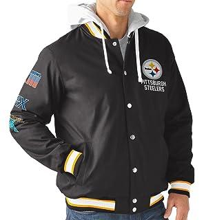 2879562c5 Pittsburgh Steelers Men s Long Sleeve Glory Hooded Varsity Jacket